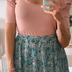 Falda plisada mint