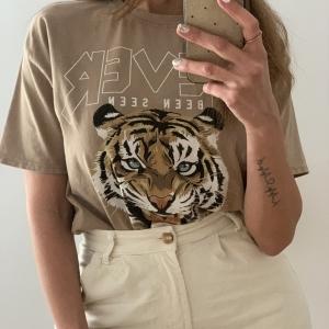 Camiseta tigre camel